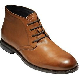 Cole Haan Mens Holland Grand Leather Lace-Up Dress Chukka Boots Shoes BHFO 2558