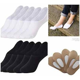 Ladies Invisible Socks Cotton Footsie Invisible Trainer Shoe Work 12 Pairs Men