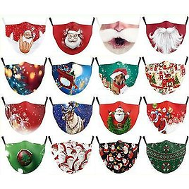 Face Mask0 Reusable Adjustable Washable Protective Breathable Covering Christmas