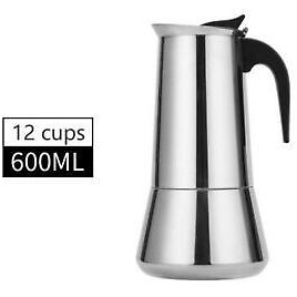 2-12CUP ESPRESSO COFFEE MAKER STAINLESS STEEL STOVETOP PERCOLATOR MOKA POT Rts