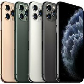 """NEW APPLE IPHONE 11 PRO MAX 6.5"""" 64GB 256GB 512GB GRAY GREEN GOLD SILVER (AT&T)"""