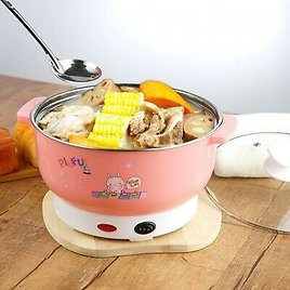 Electric Cooker Pot Mini Heating Pan Stainless Steel Hotpot Noodles Rice Steamer