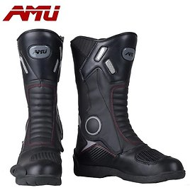 AMU Motorcycle WaterProof Protective Boot Motocross Dirt Motor Sports Biker Boot Cross-country Leather Men Boots Shoes