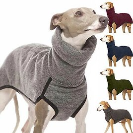 High Collar Pet Clothes for Small Medium Large Dogs Winter Warm Sweater Coat