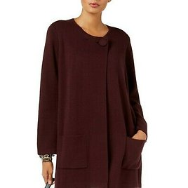 ALFANI NEW Women's One Button Pocketed Sweater Jacket Top TEDO