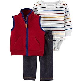 Carter's® 3-Piece Quilted Vest, Long Sleeve Bodysuit, and Pant Set