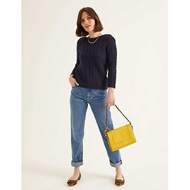 Amelie Sweater - Navy | Boden US