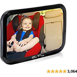 Shatterproof Baby Backseat Mirror for Car - View Infant in Rear Facing Car Seat - 2020