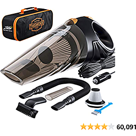 Portable Car Vacuum Cleaner: High Power Corded Handheld Vacuum w/ 16 Foot  - 12V - Best Car & Auto Accessories 2020