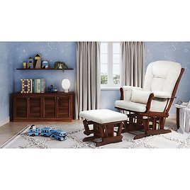 AFG Alice Glider Chair and Ottoman with PIllow (Choose Your Color)