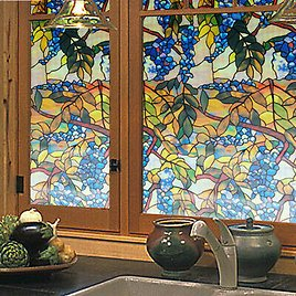 3D Frosted Window Films Static Cling Stained Glass Sticker Opaque Door Decor