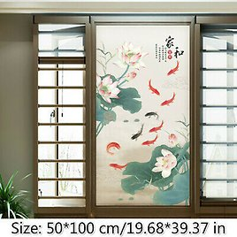 Static Cling Glass Sticker Frosted Stained Peony Window Films Opaque Decor
