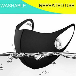 3 Pack Face Mask Black Cotton Soft Double Layer Washable Reusable USA Seller