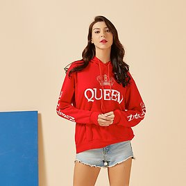King and Queen New Muti Colors Matching Cute Lover Women Hoodies