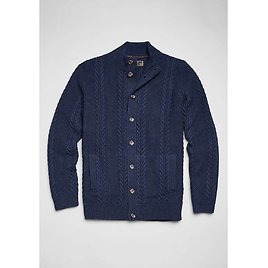 Reserve Collection Wool Blend Cable Knit Sweater