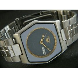 GENUINE VINTAGE SEIKO 5 AUTOMATIC JAPAN MEN'S DAY/DATE WATCH 417-a206956-8