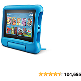 """Fire 7 Kids Edition Tablet, 7"""" Display, 16 GB, Blue Kid-Proof Case    32020"""