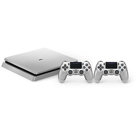 SONY PlayStation 4 Slim 500GB Console with 2 Controllers - Silver for Sale Online