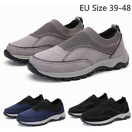 Mens Mesh Casual Loafer Shoes Lightweight Slip On Sneakers Walking Shoes Outdoor
