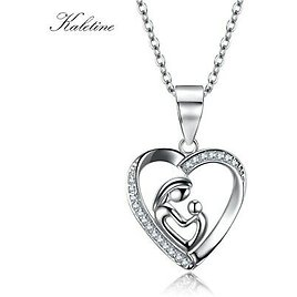 925 Silver CZ Mum Heart Necklaces 925 Silver Xmas Gifts For Her Mother Daughter | eBay