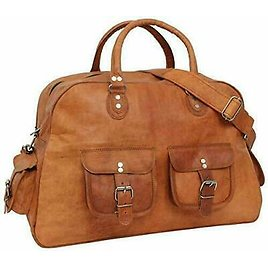 Women's Genuine Leather Large Vintage Duffle Travel Gym Weekend Overnight Bag