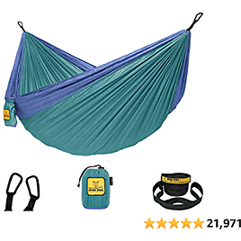 Wise Owl Outfitters Hammock Camping Double & Single with Tree Straps 2020r Outdoor Backpacking Survival & Travel, Portable