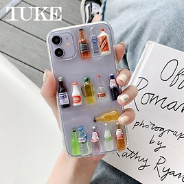 US $1.83 50% OFF|3D Nightclub Wine Bottle Phone Case For IPhone SE 2020 7 8 Plus 11 Pro Max X XS XR Clear Soft TPU Back Cover Funda Aiphone 11|Phone Case & Covers| - AliExpress