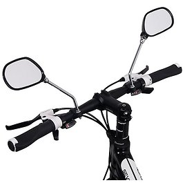 1Pair Bike Rearview Mirror Safety Wide Range Back Sight Reflector Angle Adjustable Bicycle Handlebar Rear View Mirrors Cycling Accessories