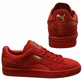 Puma Suede Classic Mono Reptile Mens Trainers Lace Up Shoes Red 363164 05 U58