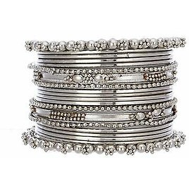 Ethnic Indian Traditional Silver Wedding Bollywood Bangles Bracelet Jewelry
