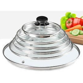 Glass Lid Cover Replacement Vented Frying Pan Saucepan Casserole Wok 14 - 40 Cm