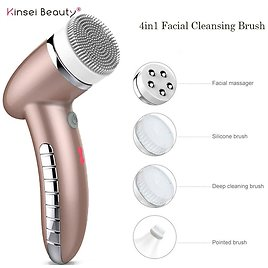 US $20.02 71% OFF 4IN1 Face Cleansing Brush Sonic Vibration Face Cleaner Silicone Facial Cleansing Brush Deep Pore Cleanser Electric Face Massage Powered Facial Cleansing Devices  - AliExpress