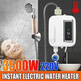 220V 3500W Instant Electric Tankless Hot Water Heater Shower Kitchen Bath !CD