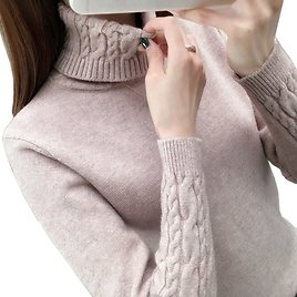 US $7.99 43% OFF|Women Sweater Turtleneck Pullovers Autumn Winter Sweaters New 2020 Long Sleeve Thick Warm Female Sweater Khaki|Pullovers| - AliExpress