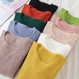 US $8.99 50% OFF|Korean Sweater Women Knitted Sweaters for Women Long Sleeve Basic White Sweater Plus Size Autumn Woman Knit Pullover Sweaters XL|Pullovers| - AliExpress