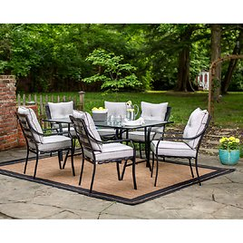 Hanover Lavallette 7-Piece Outdoor Dining Set in Gray