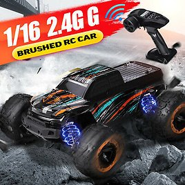 HBX 16889 1/16 2.4G 4WD 30km/h Brushed RC Car With LED Light Electric #Oo