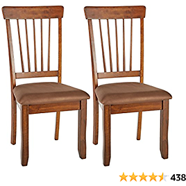 Signature Design By Ashley Kimonte Dining Room Chair Set of 2, Dark Brown