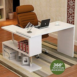 L-Shaped Computer Desk PC Laptop Table Workstation Study Home Office Furniture T