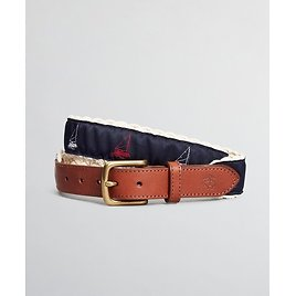 Boys Casual Woven Embroidered Belt - Brooks Brothers