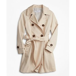 Girls Double-Breasted Trench Coat - Brooks Brothers