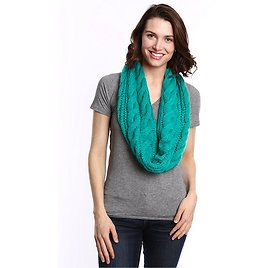 Women's Cable Knit Infinity Scarf By Tickled Pink – Soft, Versatile