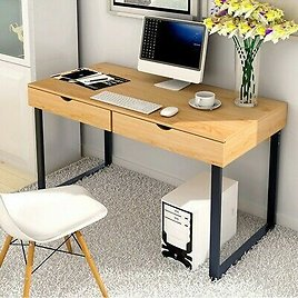 Home Laptop Computer Table Office Desk Write Study Table Workstation 2 Drawer