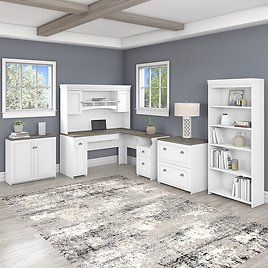 Niles 4 Piece Office Set with Hutch
