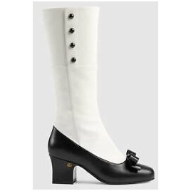 Gucci Women's Mid-heel Boot with Crystal Bow