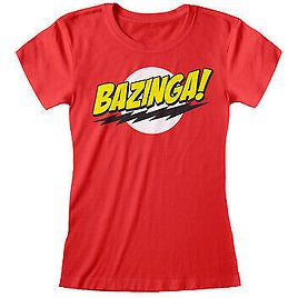The Big Bang Theory Bazinga Women's Fitted T-Shirt   Official Merchandise