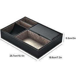 Multi-functional PU Leather Desktop Stationery Business Office Supplies Sto