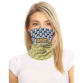 NFL Pittsburgh Steelers Neck Gaiter Face Mask One Size Unisex 100% Cotton