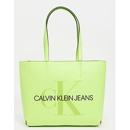 Calvin Klein Jeans Tote Bag with Large Logo in Yellow   ASOS