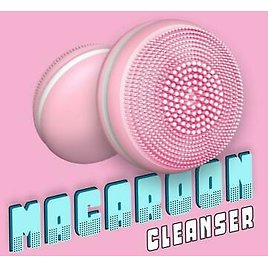 Macaron Electric Face Cleansing Brush Ultra Sonic Facial Skin Cleaner Massager